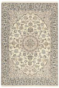 Nain 9La Tappeto 120X177 Orientale Fatto A Mano Grigio Chiaro/Beige (Lana/Seta, Persia/Iran)