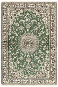 Nain 9La Tappeto 118X177 Orientale Fatto A Mano Verde Oliva/Beige (Lana/Seta, Persia/Iran)