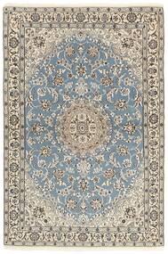 Nain 9La Tappeto 118X177 Orientale Fatto A Mano Grigio Chiaro/Beige (Lana/Seta, Persia/Iran)