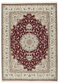 Tabriz 50 Raj Con Seta Tappeto 248X347 Orientale Fatto A Mano Grigio Chiaro/Rosso Scuro (Lana/Seta, Persia/Iran)