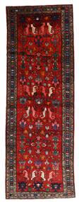 Hamadan Tappeto 112X330 Orientale Fatto A Mano Alfombra Pasillo Rosso Scuro/Ruggine/Rosso/Nero (Lana, Persia/Iran)