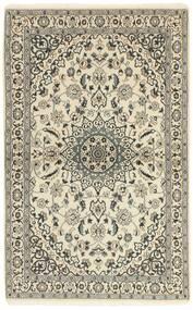 Nain 9La Tappeto 117X186 Orientale Fatto A Mano Beige/Grigio Chiaro (Lana/Seta, Persia/Iran)