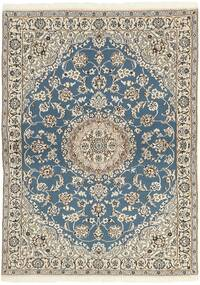 Nain 9La Tappeto 118X171 Orientale Fatto A Mano Grigio Chiaro/Beige (Lana/Seta, Persia/Iran)
