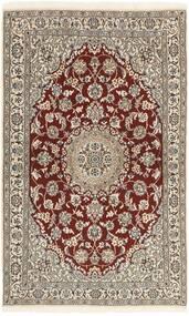 Nain 9La Tappeto 113X186 Orientale Fatto A Mano Grigio Chiaro/Beige (Lana/Seta, Persia/Iran)