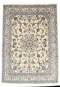 Nain Tappeto 147X210 Orientale Fatto A Mano Grigio Chiaro/Beige (Lana, Persia/Iran)