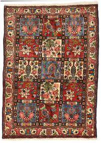 Bakhtiar Collectible Tappeto 114X158 Orientale Fatto A Mano Nero/Verde Scuro (Lana, Persia/Iran)