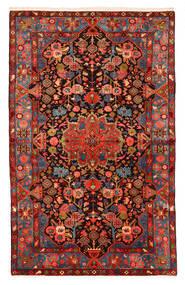 Nahavand Old Tappeto 150X240 Orientale Fatto A Mano Rosso Scuro/Nero (Lana, Persia/Iran)