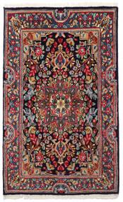 Kirman Tappeto 90X149 Orientale Fatto A Mano Grigio Scuro/Blu Scuro (Lana, Persia/Iran)