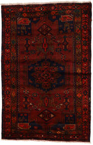Zanjan Tappeto 137X212 Orientale Fatto A Mano Marrone Scuro/Rosso Scuro (Lana, Persia/Iran)