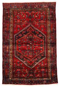 Zanjan Tappeto 133X203 Orientale Fatto A Mano Rosso Scuro/Marrone Scuro/Ruggine/Rosso (Lana, Persia/Iran)