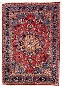 Mashad Tappeto 197X280 Orientale Fatto A Mano Rosso Scuro/Porpora Scuro (Lana, Persia/Iran)