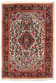 Kirman Tappeto 97X141 Orientale Fatto A Mano Nero/Rosso Scuro (Lana, Persia/Iran)