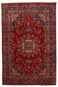 Mashad Tappeto 192X294 Orientale Fatto A Mano Rosso Scuro/Rosso (Lana, Persia/Iran)
