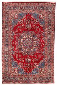 Mashad Tappeto 190X305 Orientale Fatto A Mano Rosso/Rosso Scuro (Lana, Persia/Iran)