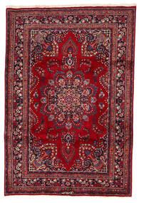 Mashad Tappeto 200X294 Orientale Fatto A Mano Rosso Scuro/Blu Scuro (Lana, Persia/Iran)