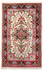 Kirman Tappeto 94X155 Orientale Fatto A Mano Rosso Scuro/Beige (Lana, Persia/Iran)