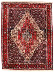 Senneh Tappeto 123X163 Orientale Fatto A Mano Marrone Scuro/Rosso Scuro (Lana, Persia/Iran)