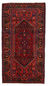 Zanjan Tappeto 128X238 Orientale Fatto A Mano Rosso Scuro/Marrone Scuro (Lana, Persia/Iran)