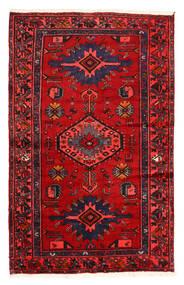 Hamadan Tappeto 128X204 Orientale Fatto A Mano Marrone Scuro/Ruggine/Rosso (Lana, Persia/Iran)