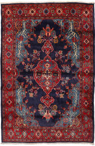 Mahal Tappeto 162X240 Orientale Fatto A Mano Rosso Scuro/Porpora Scuro (Lana, Persia/Iran)