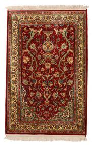 Cachemire Puri Di Seta Tappeto 62X95 Orientale Fatto A Mano Rosso Scuro/Marrone Scuro (Seta, India)