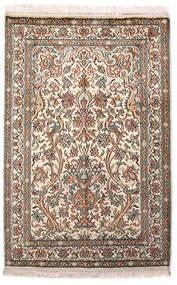 Cachemire Puri Di Seta Tappeto 64X96 Orientale Fatto A Mano Grigio Chiaro/Beige (Seta, India)