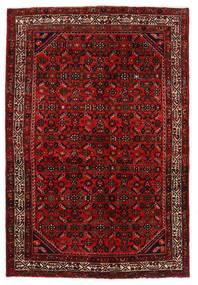 Hosseinabad Tappeto 136X203 Orientale Fatto A Mano Rosso Scuro/Ruggine/Rosso (Lana, Persia/Iran)