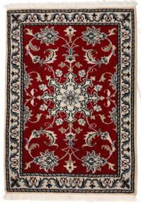 Nain Tappeto 62X96 Orientale Fatto A Mano Rosso Scuro/Grigio Chiaro (Lana, Persia/Iran)