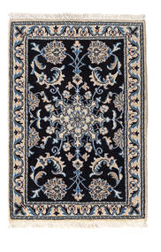 Nain Tappeto 59X86 Orientale Fatto A Mano Nero/Grigio Chiaro (Lana, Persia/Iran)