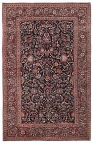 Keshan Tappeto 136X210 Orientale Fatto A Mano Rosso Scuro/Grigio Scuro (Lana/Seta, Persia/Iran)