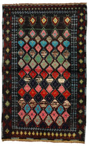 Moroccan Berber - Afghanistan Tappeto 88X144 Moderno Fatto A Mano Marrone Scuro/Verde Scuro (Lana, Afghanistan)