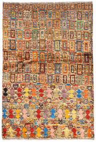 Moroccan Berber - Afghanistan Tappeto 94X139 Moderno Fatto A Mano Marrone Scuro/Rosso Scuro (Lana, Afghanistan)