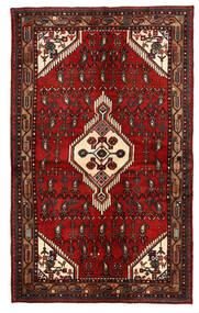Hamadan Tappeto 135X221 Orientale Fatto A Mano Rosso Scuro/Marrone Scuro (Lana, Persia/Iran)