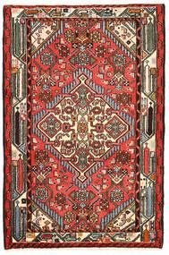 Hamadan Tappeto 82X125 Orientale Fatto A Mano Nero/Marrone Scuro (Lana, Persia/Iran)