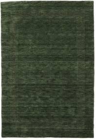 Handloom Gabba - Verde Bosco Tappeto 160X230 Moderno Verde Scuro (Lana, India)