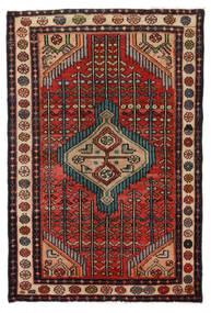 Hamadan Tappeto 76X115 Orientale Fatto A Mano Marrone Scuro/Nero (Lana, Persia/Iran)