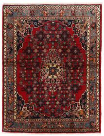 Bidjar Tappeto 105X137 Orientale Fatto A Mano Rosso Scuro/Marrone Scuro (Lana, Persia/Iran)