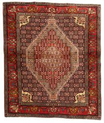 Senneh Tappeto 123X148 Orientale Fatto A Mano Marrone Scuro/Rosso Scuro (Lana, Persia/Iran)