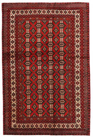 Mashad Tappeto 130X200 Orientale Fatto A Mano Rosso Scuro/Marrone Scuro (Lana, Persia/Iran)