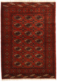 Turkaman Tappeto 115X162 Orientale Fatto A Mano Marrone Scuro/Ruggine/Rosso (Lana, Persia/Iran)