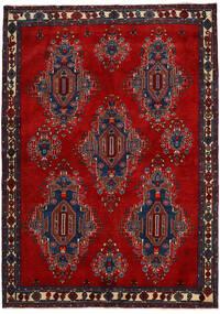 Afshar/Sirjan Tappeto 168X235 Orientale Fatto A Mano Rosso Scuro/Porpora Scuro (Lana, Persia/Iran)