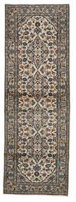 Keshan Tappeto 100X291 Orientale Fatto A Mano Alfombra Pasillo Grigio Chiaro/Nero (Lana, Persia/Iran)