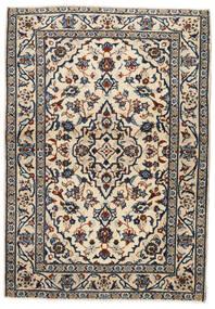 Keshan Tappeto 103X146 Orientale Fatto A Mano Beige/Nero/Grigio Chiaro (Lana, Persia/Iran)