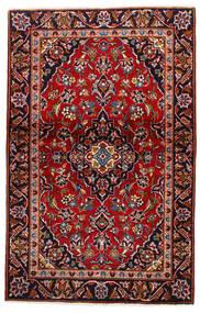 Keshan Tappeto 105X147 Orientale Fatto A Mano Rosso Scuro/Porpora Scuro (Lana, Persia/Iran)