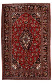 Keshan Tappeto 140X219 Orientale Fatto A Mano Rosso Scuro/Marrone Scuro (Lana, Persia/Iran)