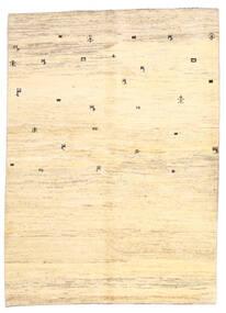 Gabbeh Persia Tappeto 169X236 Moderno Fatto A Mano Beige/Giallo (Lana, Persia/Iran)