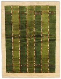 Gabbeh Persia Tappeto 146X190 Moderno Fatto A Mano Verde Scuro/Beige (Lana, Persia/Iran)