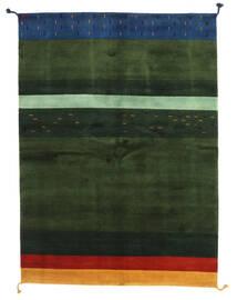 Gabbeh Indo Tappeto 166X227 Moderno Fatto A Mano Verde Scuro (Lana, India)