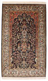 Cachemire Puri Di Seta Tappeto 82X132 Orientale Fatto A Mano Nero/Marrone Scuro (Seta, India)