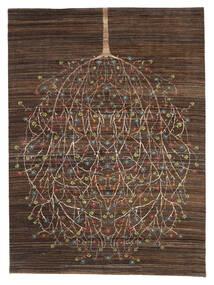 Gabbeh Loribaft Tappeto 170X227 Moderno Fatto A Mano Marrone Scuro/Marrone (Lana, India)